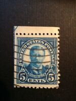 US postage stamp 5c estremamente Raro non perf. Sinistra Blu linea  integro