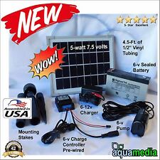(1) Solar Water Pump Kit Fountain Pool Pond w/ 6v9Ah Battery w/Charge Controller