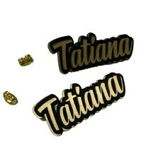Personalized Custom Post Earrings Name Laser Cut Pretty Black Gold Stud Any Name