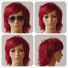 20 Color Man Women Short Wig Straight Hair Halloween Cosplay Costume Full Wigs