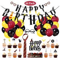 49Pcs Harry Potter Full Theme Balloons Set Children's Birthday Party Decoration