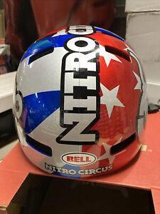 ! Bell Local Adult Medium BMX Bike MTB Helmet Nitro Circus Silver/Blue/Red