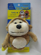 """Funky"" Monkey Fun Friends Plush Bar-style (3""-5"") Cell Phone Cover NEW"