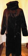 Edwardian Thru 30s HEAVY Black Velvet Coat w High or Low Collar w pockets sz M-L