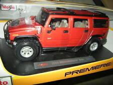 1:18 Maisto Hummer H2 SUV 2003 rot/red OVP