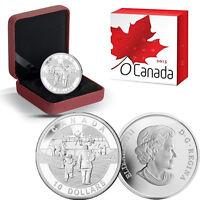 2013 O Canada 1/2 oz Silver $10 - Hockey
