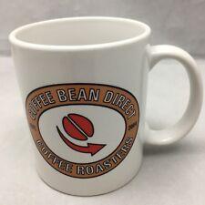 Coffee Bean Direct Mug Coffee Roasters White Cup Red Black Tan Established 2004