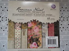 "Prima Romance Novel  6"" x 6"" Discontinued Scrapbooks/Cards/Journals/Paper Crafts"