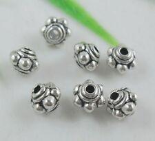 300pcs Tibetan Silver Little Spacer Beads Findings 4.5x4mm ZN716