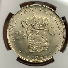 Netherlands 1944 D Curacao 2.5G  NGC MS64