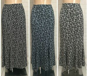 Maxi Length Fishtail Mermaid Fit Flare Godet Style Causal Smart Skirt 10 - 18