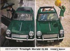 Triumph Herald 12/50 Skylight Original UK Sales Brochure Pub No 356 1965