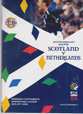 Programme / Programma Scotland v Holland 09-09-2009 World Cup 2010 qualifier