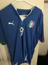 Puma Italy Mario Balotelli 2013 Home Soccer Jersey Large Football