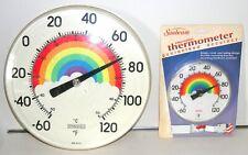 "LOT ~ Vintage Rare Springfield RAINBOW Wall Thermometer w/ ""NEW"" Sunbeam Mini"