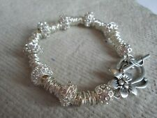 .Handcrafted  Bracelet ~ Sparkly Rhinestone and Jumpring ~ Silver