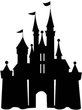 Disney Princess Castle Silhouette Cake Topper Edible Wafer Paper ANY SIZE