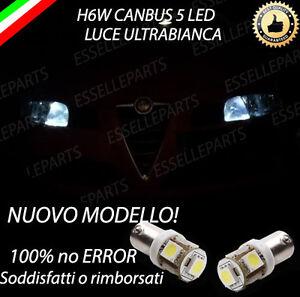 COPPIA LUCI POSIZIONE A 5 LED PER ALFA ROMEO GT H6W CANBUS 100% NO ERRORE