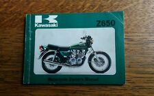 KAWASAKI Z650 B3 OWNERS MANUAL/ HANDBOOK / BOOKLET