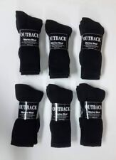 12 Pair Black MERINO Wool Blend Socks Men's Small-Med FREE SHIPPING