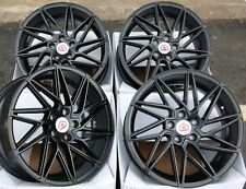 "ALLOY WHEELS X 4 18"" BLACK TURBO FOR 5X112 VW BEETLE CC EOS CADDY GOLF JETTA"