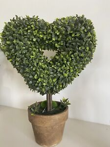 Artificial Heart Topiary Potted Plant Indoor Outdoor Tree Decor