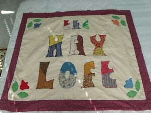 "HANDMADE PATCHWORK QUILT 48"" X 39"", FOR CHILD  OR LAP."