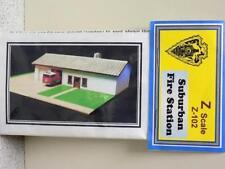 SUBURBAN FIRE STATION - Z-102 - Z Scale KIT by Randy Brown