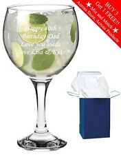 Personalised Engraved Gin Balloon Glass Gin and Tonic Birthday Mum Present Gift