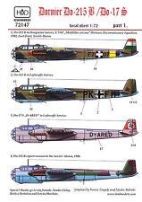 Hungarian Aero Decals 1/72 DORNIER Do-215B & DORNIER Do-17S Bombers Part 1