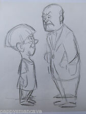 Original Disney Artist, Len Smith,Three Stooges Sketches, Concept Drawing 5