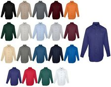 MENS COTTON TWILL DRESS / CASUAL SHIRT, POCKET, LONG SLEEVE S-6XL, TALL, LT-6XLT
