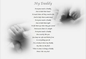 Daddy Gift - personalised keepsake gift - fathers day, birthday, christmas