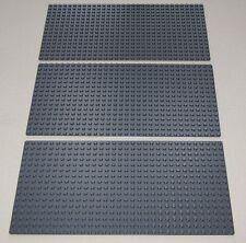 LEGO 3 BRAND NEW 16 X 32 DOT BLUISH GREY BASEPLATE BUILDING PLATE PLATFORM PIECE