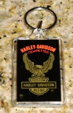HARLEY DAVIDSON CIGARETTES TWO SIDED ACRYLIC KEY RING