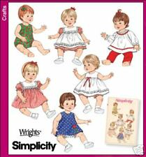 SIMPLICITY 4254 OOP Baby Doll Clothes 3 Sizes Archives