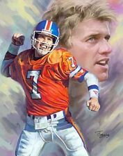 John Elway :giclee print on canvas poster painting no autograph N-937