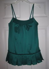RICHARD CHAI for TARGET TEAL JADE PLEAT XS TANK TOP EUC