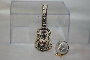 Miniature Dollhouse Vintage Childs Toy Wood Guitar 1:12 No Reserve