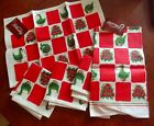 4 'Apple Cone and Goose Topiary' PLACEMATS & TOWEL ~COLONIAL WILLIAMSBURG NWT