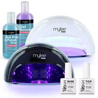 Mylee Convex LED Nail Dryer Manicure Starter Kit MyGel Gel Top & Base Coat