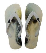 Ladies Flip Flops Polar Bear Endangered Animals Size Medium 6-7 New