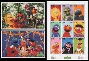 Fidschi 2000 - Mi-Nr. 916-924 & Block 34-35 ** - MNH - Sesame street