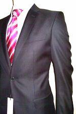 38r Suit Versace Shiny Black Jetset Evening W/ Signature Logo on Liner 38us 48e
