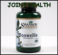 #1 Swanson BOSWELLIA SERRATA 100 Caps 400mg Joint Health Anti-Inflammatory 800mg