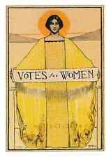 Women's Rights Postcard: Suffrage-Votes for Women Repro Print - Art Nouveau 1913