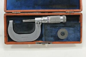 """Vintage Brown & Sharpe 20-1 Micrometer 1-2"""" in Box - Very Good Condition"""