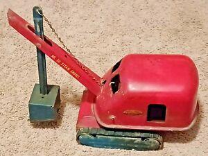 Vintage Tonka Toys 1953 Steam Shovel # 50  All Original Red