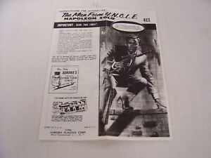 1966 Aurora Model Kit Man from Uncle Napoleon Solo Assembly Instructions