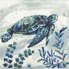 4x Paper Napkins for Decoupage - Aquaworld Waterturtle